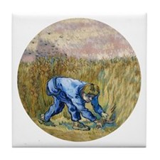 Van Gogh The Reaper Tile Coaster