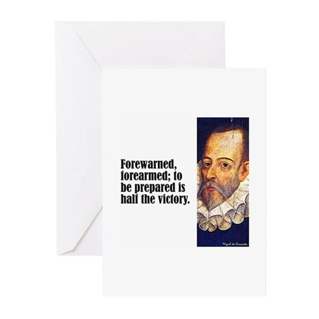 "Cervantes ""Forewarned"" Greeting Cards (Pk of 10)"