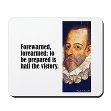 "Cervantes ""Forewarned"" Mousepad"