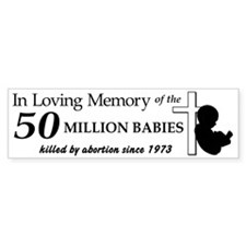 Pro Life - In Loving Memory Bumper Sticker (10 pk)