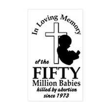 Pro Life - In Loving Memory Rectangle Decal