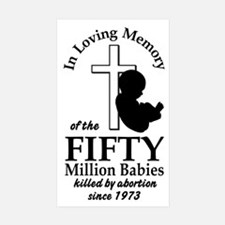 Pro Life - In Loving Memory Rectangle Sticker 10