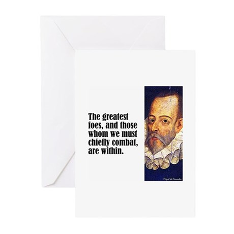 """Cervantes """"Greatest Foes"""" Greeting Cards (Pk of 10"""