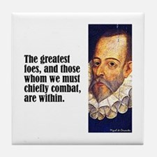 "Cervantes ""Greatest Foes"" Tile Coaster"