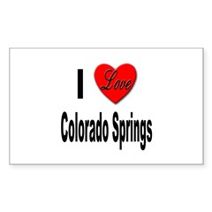 I Love Colorado Springs Rectangle Sticker 10 pk)