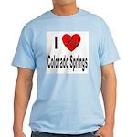 I Love Colorado Springs Light T-Shirt