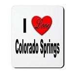 I Love Colorado Springs Mousepad