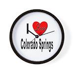 I Love Colorado Springs Wall Clock