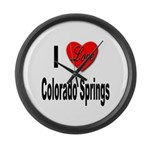 I Love Colorado Springs Large Wall Clock