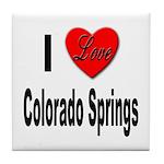 I Love Colorado Springs Tile Coaster