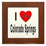 I Love Colorado Springs Framed Tile