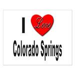 I Love Colorado Springs Small Poster