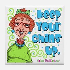 Keep Your Chins Up! Tile Coaster