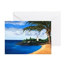 Tranquil Bay - full bleed -Greeting Card