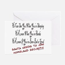 Cute Homeland security funny Greeting Card