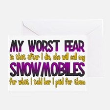 Cheap Snowmobiles Greeting Cards (Pk of 10)