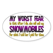 Cheap Snowmobiles Oval Decal