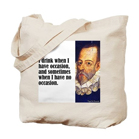 "Cervantes ""I Drink"" Tote Bag"