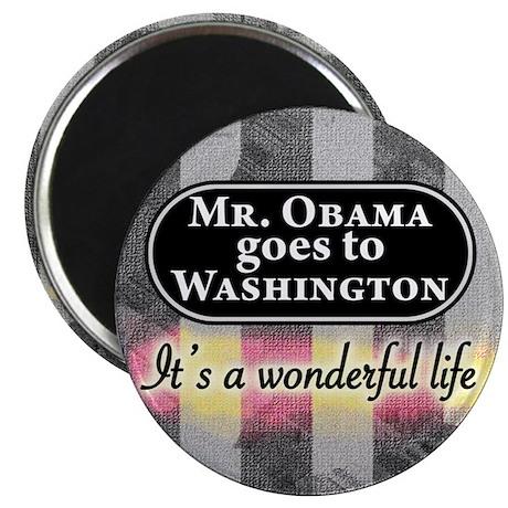 James Stewart/Barack Obama Christmas Magnet