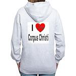 I Love Corpus Christi (Back) Women's Zip Hoodie