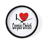 I Love Corpus Christi Wall Clock