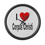 I Love Corpus Christi Large Wall Clock