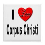 I Love Corpus Christi Tile Coaster