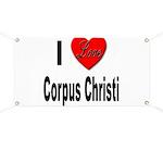 I Love Corpus Christi Banner