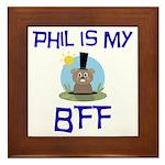 Phil BFF Groundhog Day Framed Tile