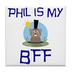 Phil BFF Groundhog Day Tile Coaster