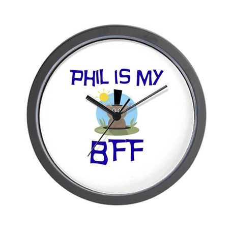 Phil BFF Groundhog Day Wall Clock
