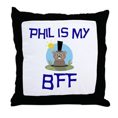 Phil BFF Groundhog Day Throw Pillow