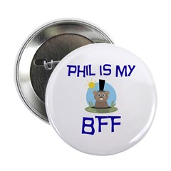 "Phil BFF Groundhog Day 2.25"" Button (100 pack"