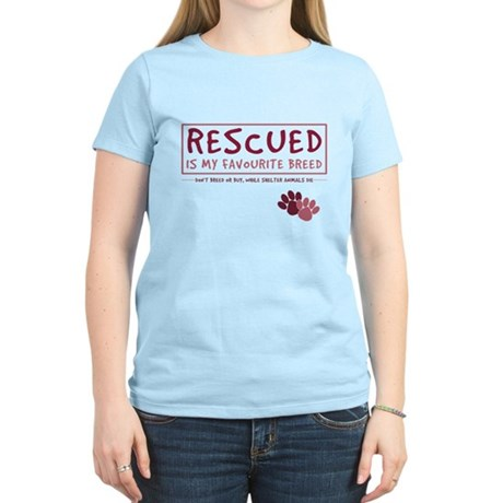 Rescued is my Favourite Breed Women's Light T-Shir
