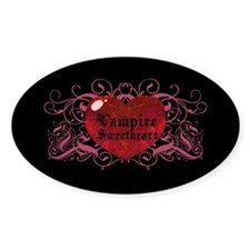 Vampire Sweetheart Oval Decal