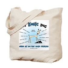 Bionic Dog Tote Bag
