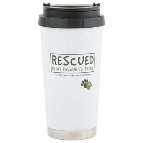 Rescued is my Favourite Breed Stainless Steel Trav