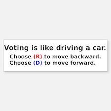 Voting Is Like Driving A Car Bumper Bumper Bumper Sticker