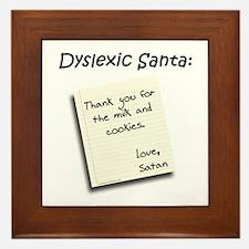 Funny Dyslexia Framed Tile