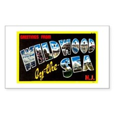 Greetings from Wildwood Rectangle Decal