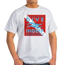 Dive Indeep Logo on Dive Flag Ash Grey T-Shirt