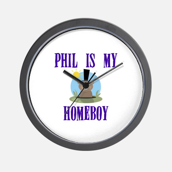 Homeboy Groundhog Day Wall Clock