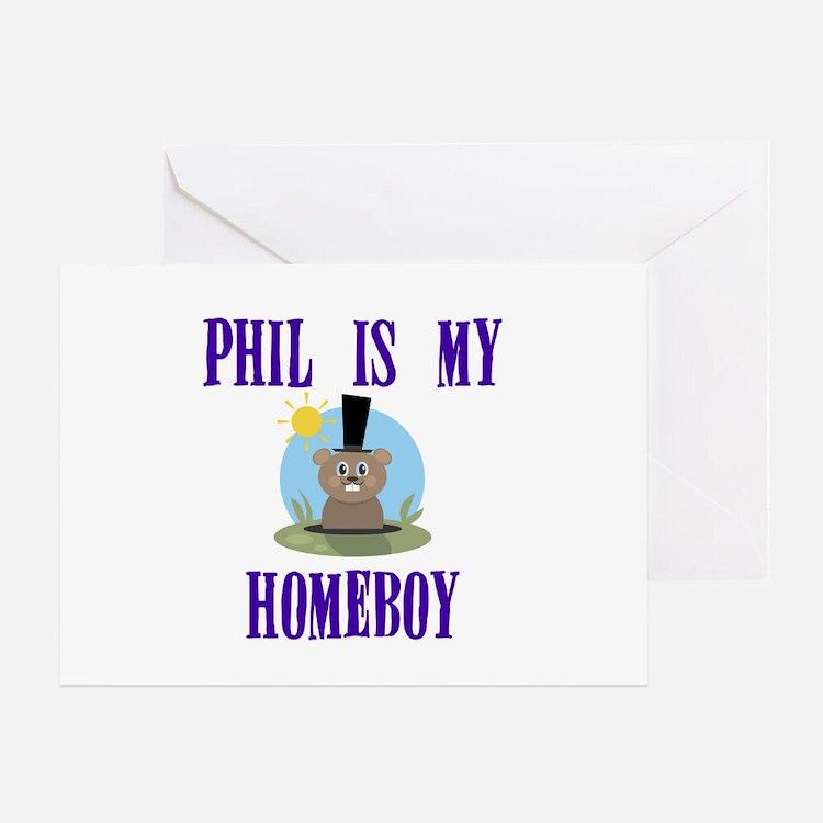 Homeboy Groundhog Day Greeting Card
