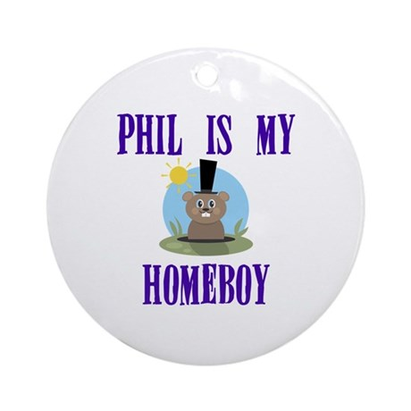 Homeboy Groundhog Day Ornament (Round)