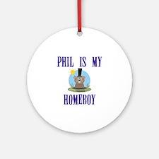 Homeboy Groundhog Day Ornament (Round)