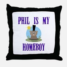 Homeboy Groundhog Day Throw Pillow