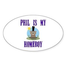 Homeboy Groundhog Day Oval Decal