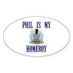 Homeboy Groundhog Day Oval Sticker (10 pk)