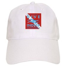 Dive Indeep Logo on Dive Flag Baseball Cap