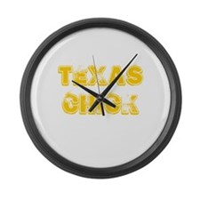 Texas Chick Large Wall Clock
